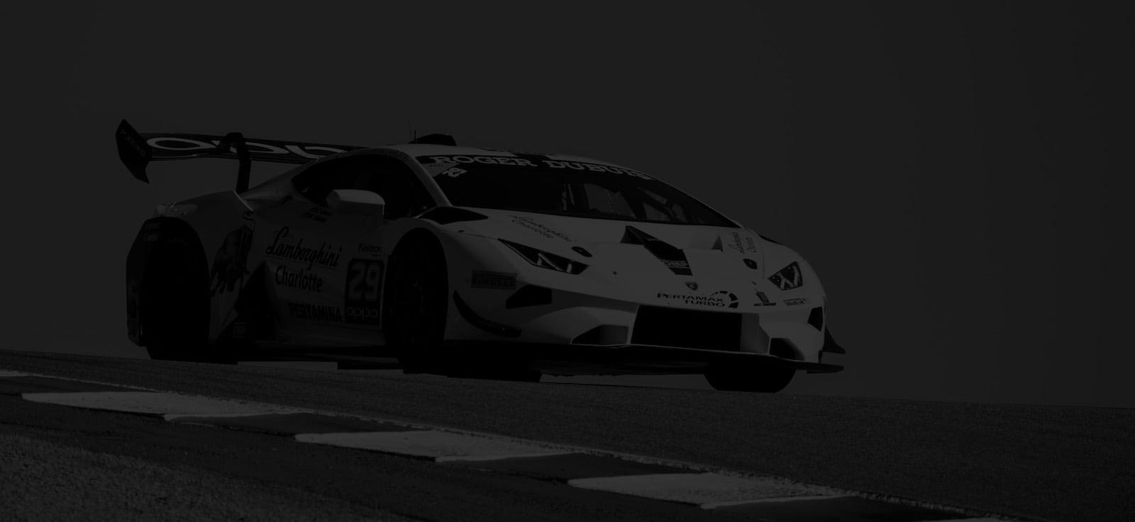 Corey Lewis Lamborghini Racing footer